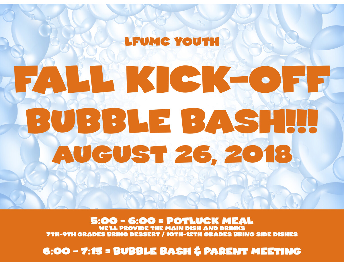 Youth Kick-Off 2018 - Bubble Bash