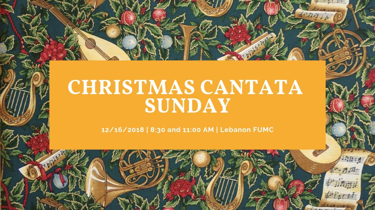 Christmas Cantata Sunday!