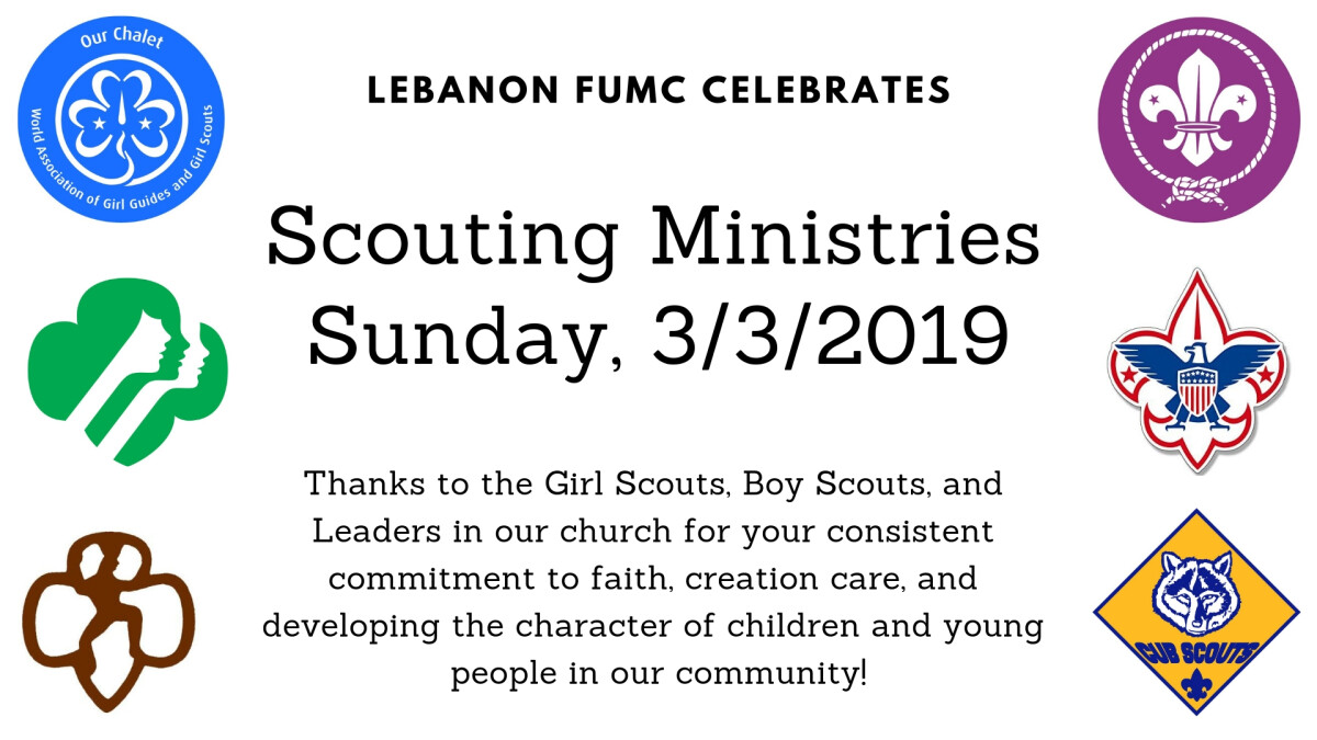 Scouting Ministries Sunday 2019
