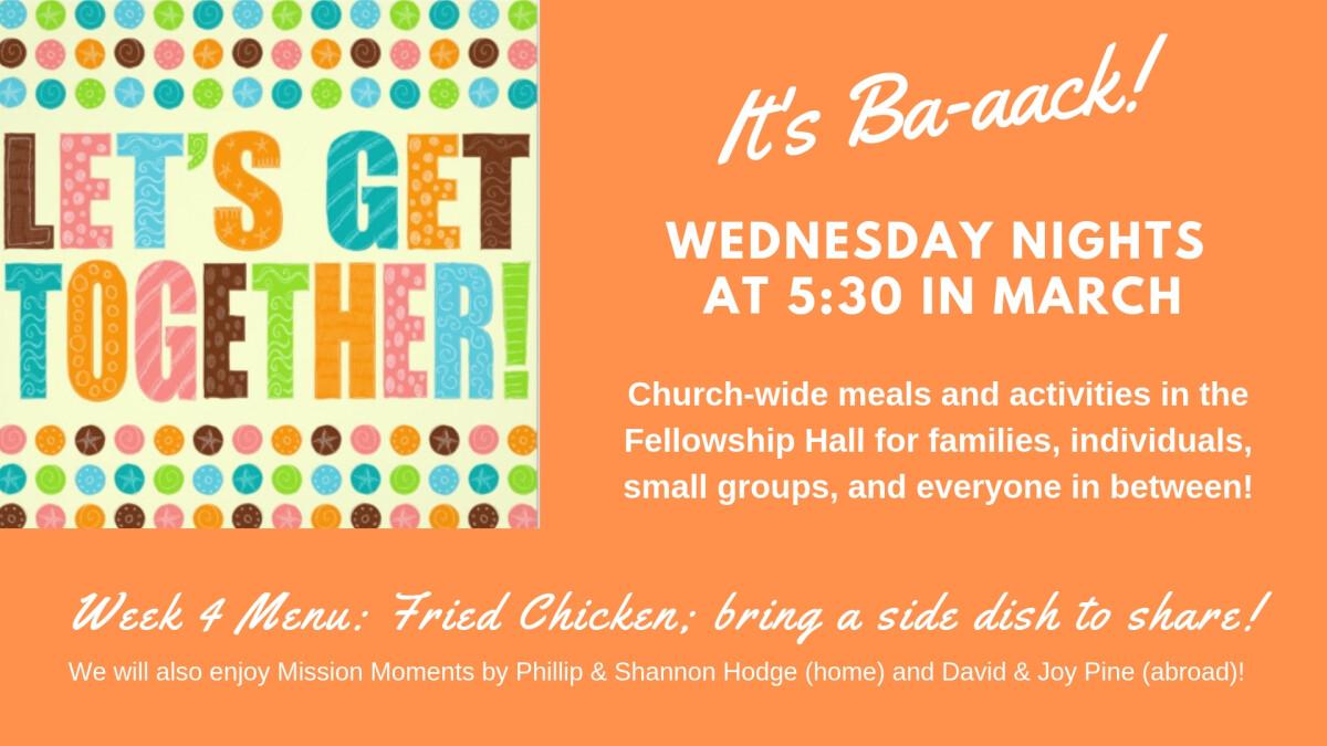 Let's Get Together! Week 4