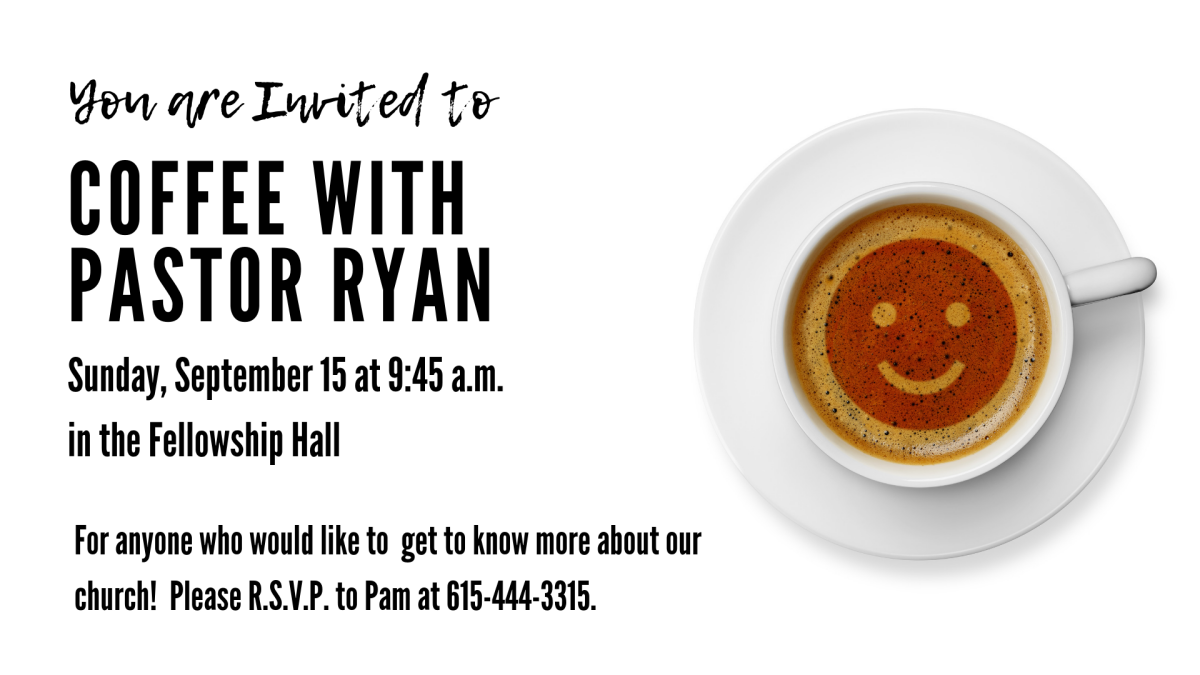 Coffee with Pastor Ryan