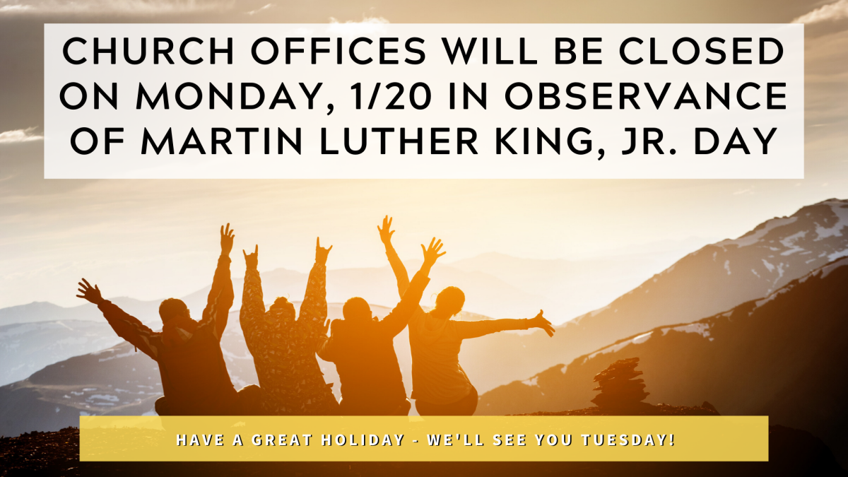 Martin Luther King, Jr. Day Hours