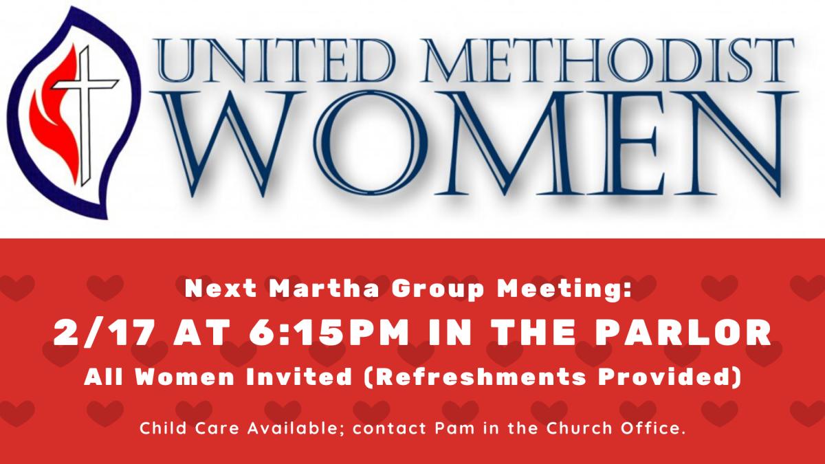 UMW Martha Group Meeting