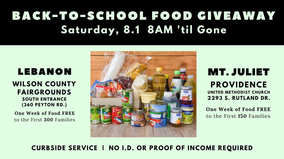 Back-to-School Food Giveaway
