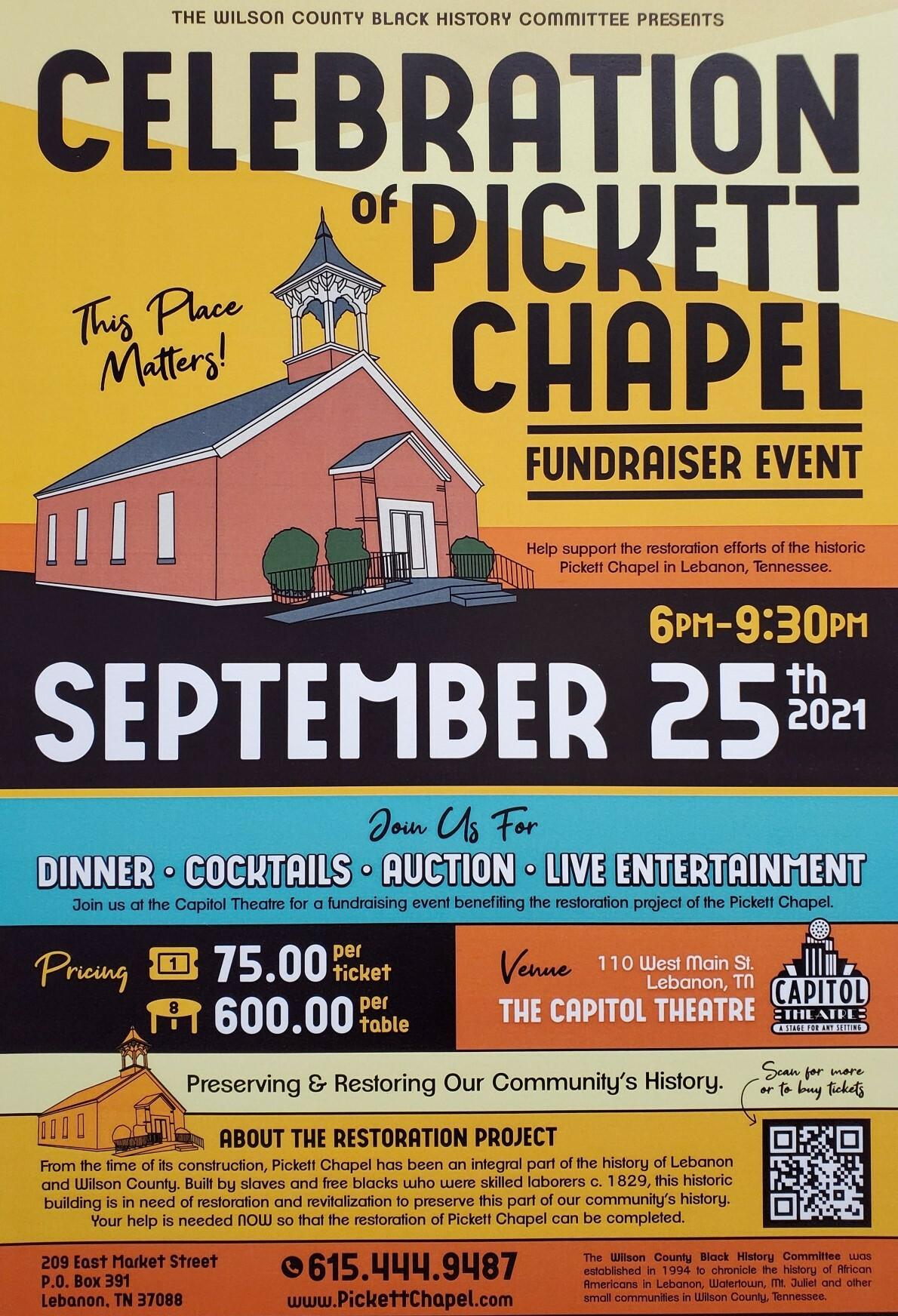 Celebration of Pickett Chapel